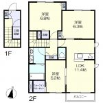 1階専用玄関の広々3LDK(間取)