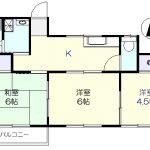2階の角部屋(間取)