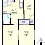 1階角部屋の3DK(間取)