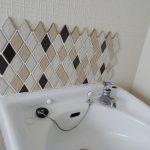 タイル張りの手洗い場