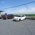 広々した駐車場