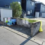 敷地内のゴミ捨て場