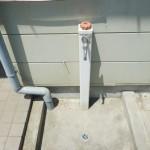 洗車に便利な外水道