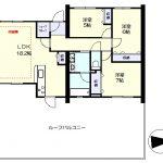 リビングに床暖房、LDKと隣の洋室をつなげて利用することも可能です。(間取)