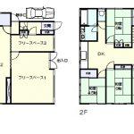 1階フリースペースの延べ面積51坪(間取)
