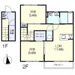 1階専用玄関 収納豊富な間取り(地図)